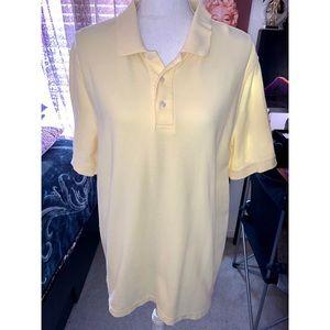 Men's Croft & Barrow Yellow Button Short Sleeve